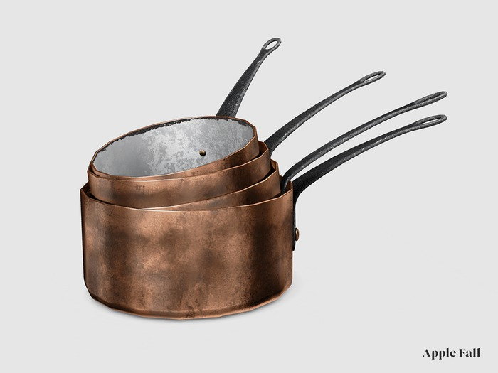 Apple Fall Copper Pan Stack