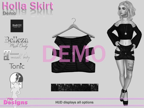 Holla Skirt Demo Hud
