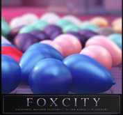 FOXCITY. Colourful Balloon Cluster (Fatpack)