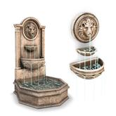 [Tia] Pompeii - 3 Tier Lion Fountains  (Boxed)