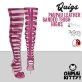 [OMK] Quigs Fish Net Boots PauPau Pink KITTY (B/M/S)