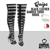 [OMK] Quigs Fish Net Boots Black KITTY (B/M/S)