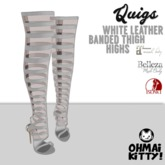 [OMK] Quigs Fish Net Boots Snow White KITTY (B/M/S)