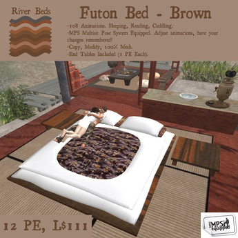 Second Life Marketplace Futon Bed