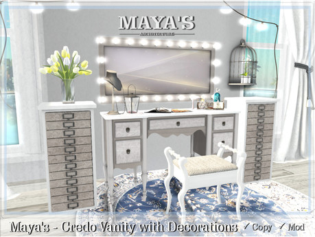 Maya's - Credo Vanity with Decorations