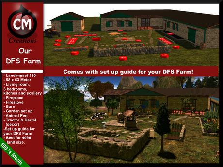 ! CM Creations, Our DFS Farm - comes with easy set up guide for your DFS Farm