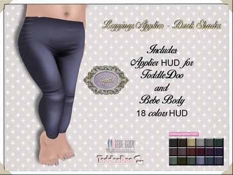 By Hanta - Leggings Applier - Dark Shades (ToddleeDoo and Bebe)