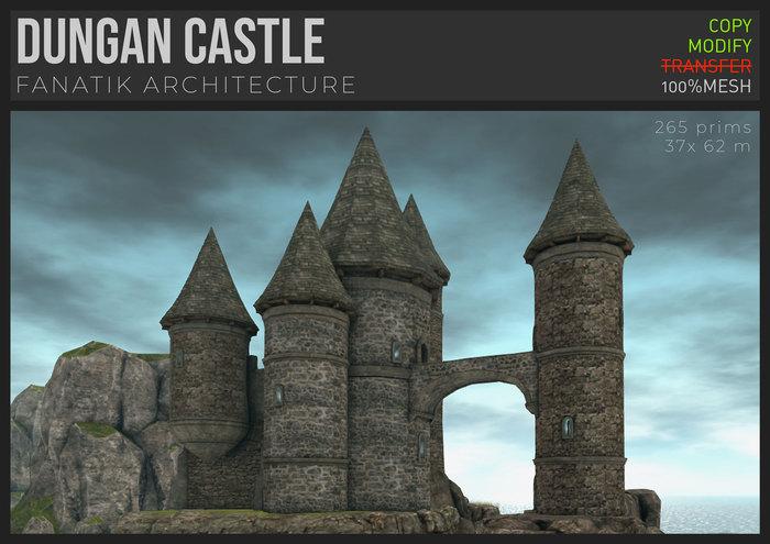 :Fanatik Architecture: DUNGAN CASTLE -  mesh fantasy castle building