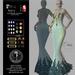 Son!a Paris Rigged Mesh Dress Sequins Ice