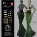 Son!a Paris Rigged Mesh Dress Sequins Leaf