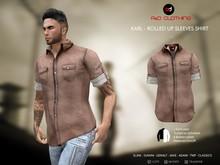 A&D Clothing - Shirt -Karl- Brown