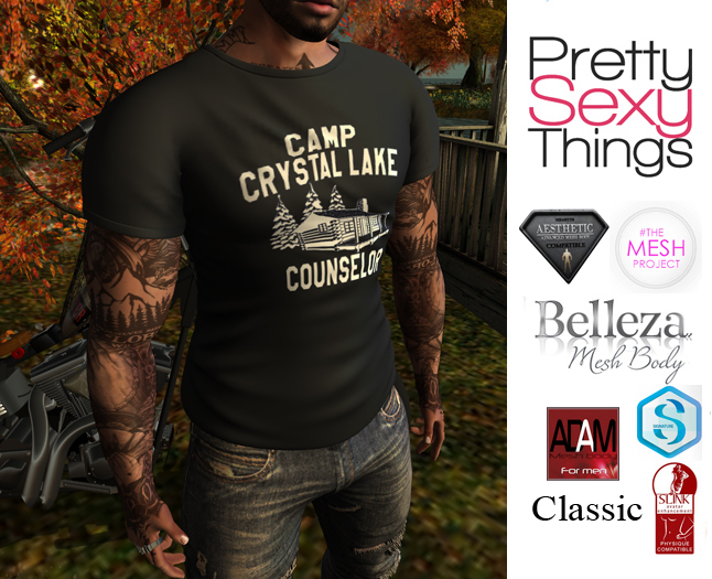 ★ PST Mens T - Camp Crystal Lake Counselor (Adam, Aesthetic, Belleza Jake, Gianni, Slink, TMP, Classic) ★