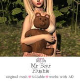 .:Short Leash:. Mr. Bear Plushie *holdable*