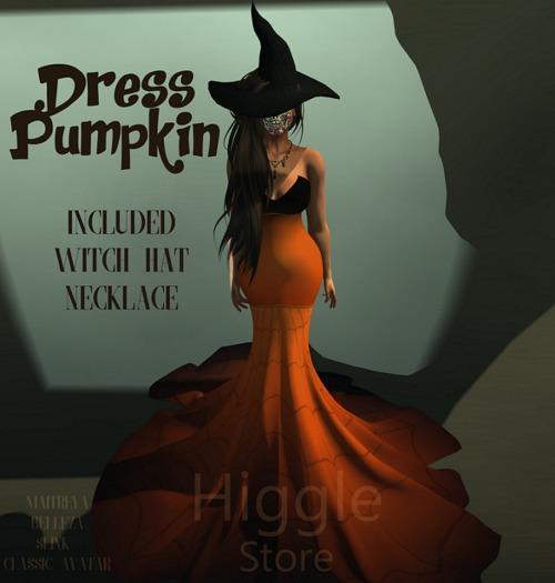 {HIGGLE} Dress Pumpkin Halloween