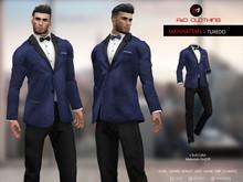 A&D Clothing - Suit -Manhattan- Blue Brocade