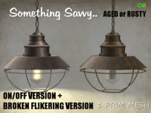 {{Something Savvy}} 1 Prim Warehouse Lamp - Aged and Rusty