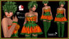 [DB] Pumpkin Girl Halloween Dress Outfit with Boots, Jewelry - Maitreya, Belleza, Slink Bodies Halloween Outfit