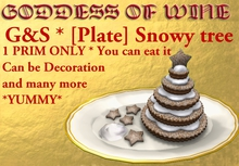 [G&S] [Plate] Snowy tree * YUMMY * 1 PRIM ONLY * Perfect for winter, XMAS, decoration and many more