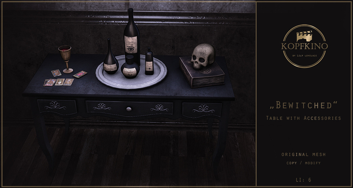 KOPFKINO - Bewitched Table + Accessories