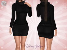 ♥ Gift Maitreya Black Knit Sweater Mini Skirt ♥