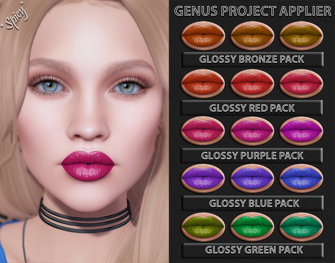 *Spicy* Glossy Lipstick DEMO Genus Project