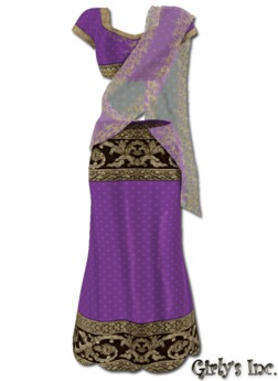 ::Girly's Inc.:: Nadia Saree - Amethyst