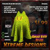 Halloween Ghost Kitty (yellow) TipJar