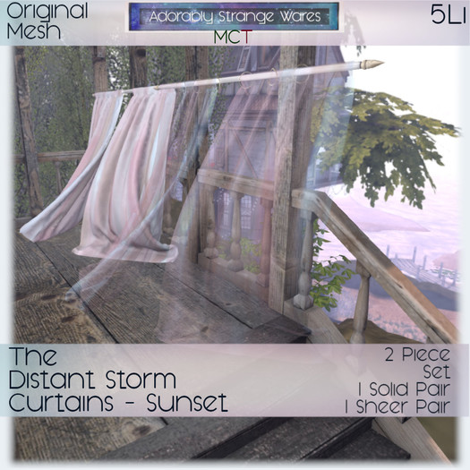 ~ASW~ The Distant Storm Curtains-Sunset