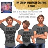 ::AMF:: Men's Drunk Halloween Tshirt