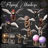 9. *HEXtraordinary* Pewter Flying Monkey Cauldron