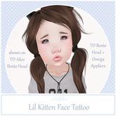 {Blubb} Lil Kitten Face Tattoo