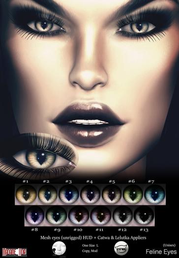 Feline Eyes pack by Madame Noir