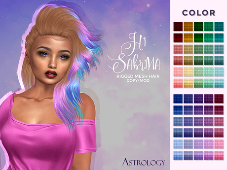Hair by Astrology: Hi Sabrina ~ Colors