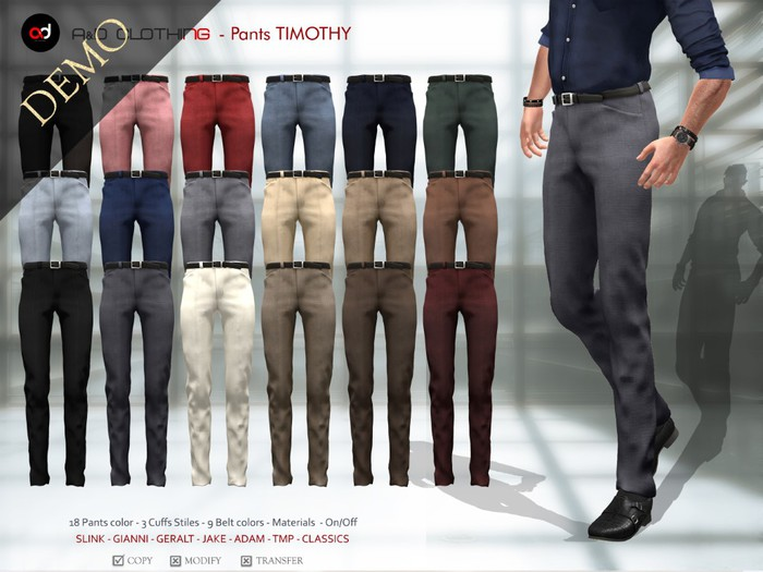 A&D Clothing - Pants -Timothy-  DEMOs