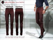A&D Clothing - Pants -Timothy- Mahogany