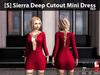 [S] Sierra Deep Cutout Mini Dress Red