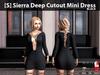 s  sierra deep cutout mini dress black pic