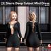 s  sierra deep cutout mini dress black ad