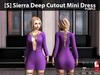 [S] Sierra Deep Cutout Mini Dress Purple