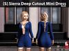 [S] Sierra Deep Cutout Mini Dress Blue
