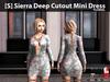 [S] Sierra Deep Cutout Mini Dress Floral