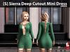 [S] Sierra Deep Cutout Mini Dress Green