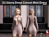 [S] Sierra Deep Cutout Mini Dress Beige