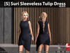 [S] Suri Sleeveless Tulip Dress Black