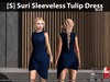 [S] Suri Sleeveless Tulip Dress Blue