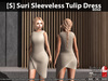 [S] Suri Sleeveless Tulip Dress Beige
