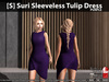 s  suri sleeveless tulip dress purple pic