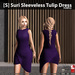 s  suri sleeveless tulip dress purple ad