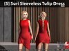 [S] Suri Sleeveless Tulip Dress Red