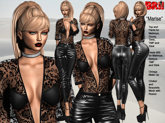 **MARISE ROCK STYLE COMPLET OUTFIT **
